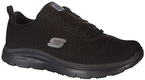 Skechers for Work Men's Flex Advantage Bendon Wide Work Shoe, Black, 9 W US