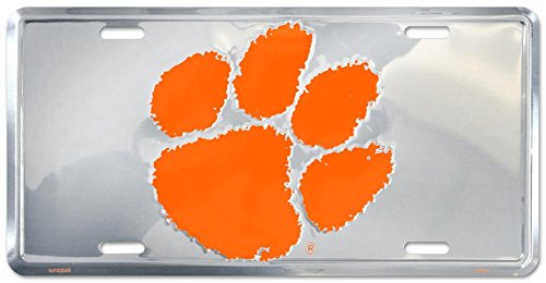Clemson Tigers License Plate Tin Sign 6 x 12in