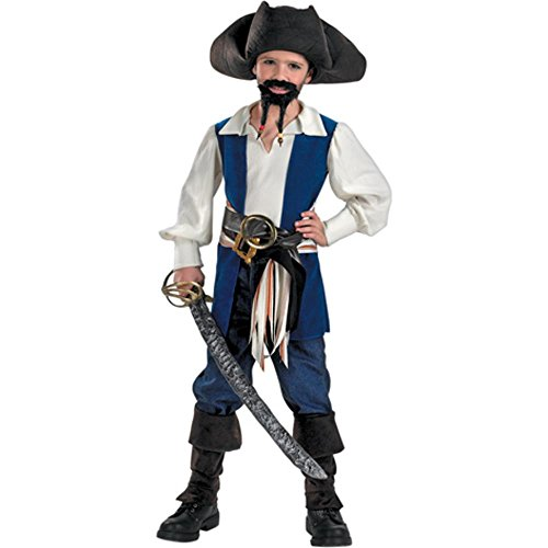 Kid's Jack Sparrow Pirate Costume (Large 10-12) (Jack Sparrow Boys Costume)