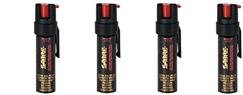 SABRE 3-IN-1 Pepper Spray - umuNdd Advanced Police Strength - Compact Size with Clip, Contains 35 Bursts (5x Other Brands) & 10-Foot (3M) Range, 4Pack (.75-Ounce) by Sabre