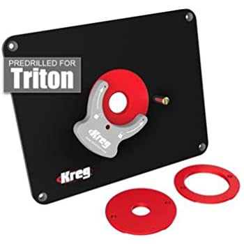 Kreg molded router table insert plate for triton routers amazon kreg molded router table insert plate for triton routers keyboard keysfo Choice Image