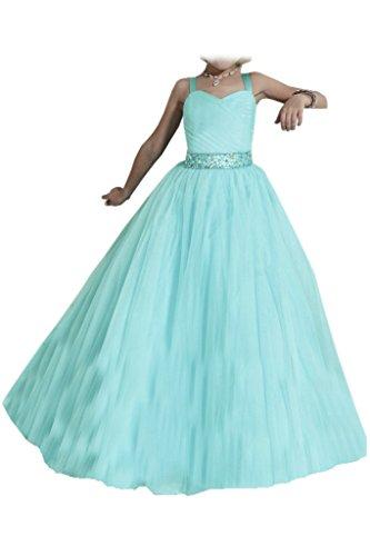 Missdressy Damen Blumenmaedchenkleid Abendkleid Traeger Band Tuell Lang