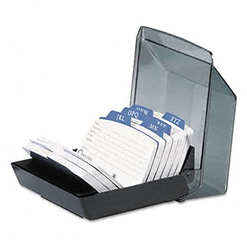 Business card organizer box amazon rolodex petite covered tray card file with 225 x 4 inch cards and 9 guides 67093 colourmoves