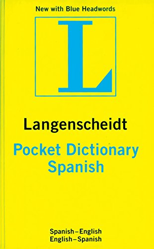 Langenscheidt's Pocket Dictionary: Spanish-English / English-Spanish (Langenscheidt Pocket Dictionaries) (English and Spanish Edition)