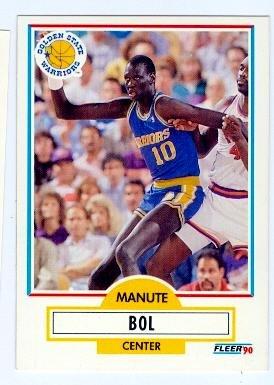 844ac2c60389 Manute Bol Basketball Card (Golden State Warriors Sudan) 1990 Fleer ...