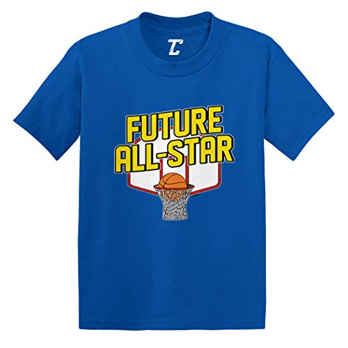Future All Star - Basketball Player Infant/Toddler Cotton Jersey T-Shirt (Royal Blue, 6 Months)
