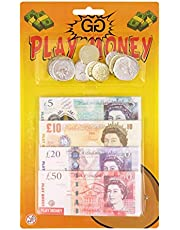 Guilty Gadgets ® Play Money Set For Children Educational Learning Toy Set Stocking Filler