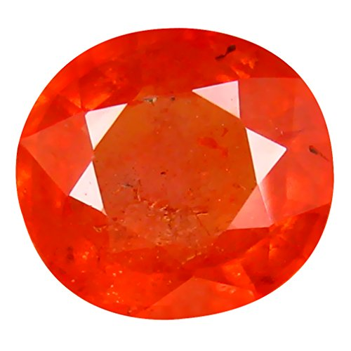 1.88 ct PGTL CERTIFIED OVAL CUT (8 x 7 mm) CEYLON ORANGE SAPPHIRE NATURAL LOOSE - Ceylon Sapphire Orange