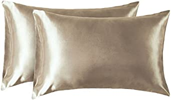 Bedsure Satin Pillowcases Set of 2