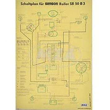 Wiring Diagram Colour Poster (40x57 cm) SR 50 B3 (Shine Cello/Dirt ...