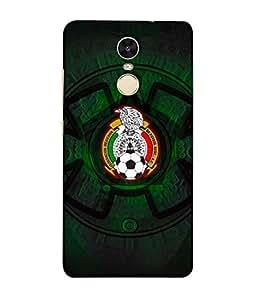 ColorKing Football Mexico 08 Black shell case cover for Xiaomi RedMi Note 5