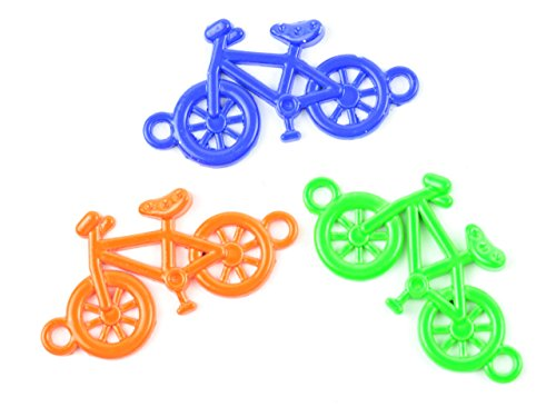 Midwest Design Imports 3-Piece Loom Band Charms Set, Neon Bike, Green/Orange/Blue from Midwest Design Imports, Inc.