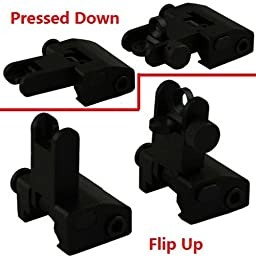 GRG Flip Up Front and Rear Back up Iron Sight