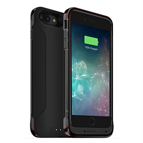 mophie Juice Pack Flex Battery case - Apple iPhone 8 Plus or 7 Plus - Maximum Protection - ISO-Flex - Wireless Charging - Slim - Up to 60% Extra Battery- Black