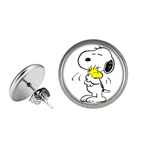 Snoopy Fashion Novelty Post Earrings Movie Cartoon Series with Gift Box]()
