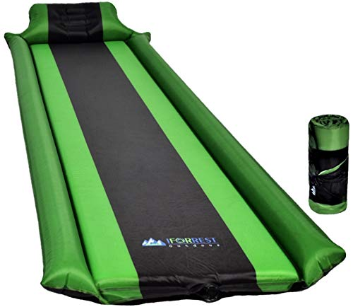 IFORREST Sleeping Pad with Armrest & Pillow – Will Never let Your Arms & Feet Feel The Ground Self Inflating Air Mattress for Camping, Hiking and Backpacking!