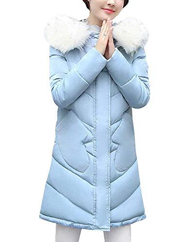 Femme Fourrure Parka Capuchon Warm Chic Hiver Outdoor Manteau avec Longues Mode TUq0rOTx