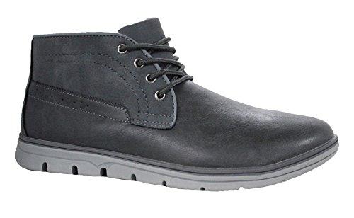 Scarpe polacchine uomo JF83 grigio casual shoes inglesine stivaletti invernali