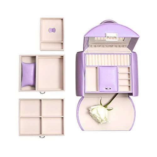 Vlando Jewelry Box From Netherlands Design Team With Mirror and Storage Drawers