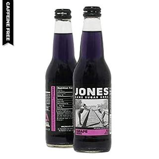 Jones Soda 12 ounce Glass Bottles (Grape, 12 Bottles)