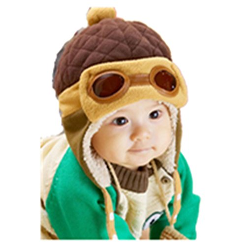 [Malltop Baby Earflap Hats, Boys Winter Warm Beanie Pilot Crochet] (Korean Costume For Boys Kids)