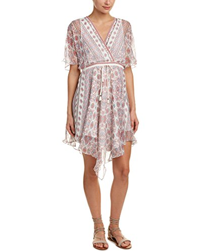 Ella Moss Women's Wayfare Printed Silk Dress, Natural, XS (Dress Natural Silk)