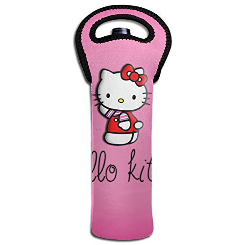 Hello Kitty Single - CFECUP Hello Kitty Neoprene Single Wine/Water Bottle Carrier Tote