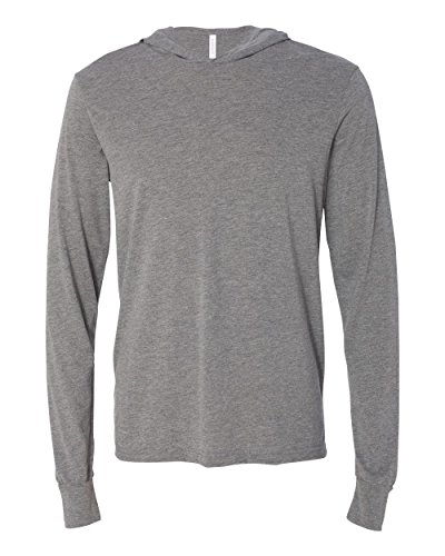 Bella Hooded Pullover (Bella + Canvas Unisex Jersey Long-Sleeve Hoodie, 2XL, GREY TRIBLEND)