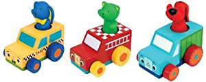 K'S Kids KW18107 Woody Racer - Juego con coches de madera