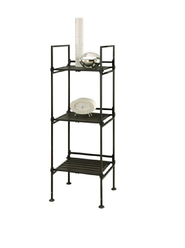 Neu Home Espresso Square Free Standing Storage Shelf – No Tool Assembly
