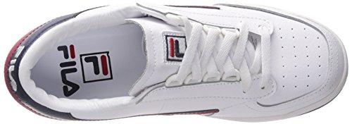 Classic Rot Marine Fila Tennis Sneaker Weiß Original O8Ewa