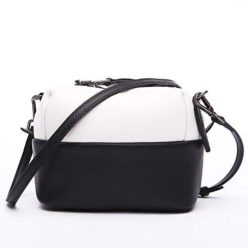 Shoulder Handbag Fashion A Baotou Single Woman Hongge Bag Layer Leather Cowhide zwXSqx47