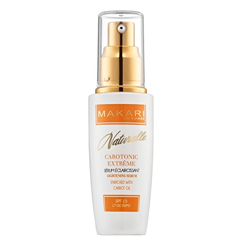 Cleanser Normal Elements Skin (Makari Naturalle Carotonic Extreme Skin Lightening Serum 1.7ounces, Toning and Brightening Face Serum with Carrot Oil and SPF 15, Anti-Aging Whitening Treatment for Acne Scars, Dark Spots and Wrinkles)