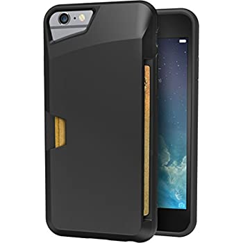 """iPhone 6/6s Wallet Case - Vault Slim Wallet for iPhone 6/6s (4.7"""") by Silk - Ultra Slim Protective Phone Cover (Midnight Black)"""