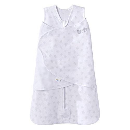 100% Cotton SleepSack Swaddle Platinum Series, Pale Grey Twinkle, Newborn