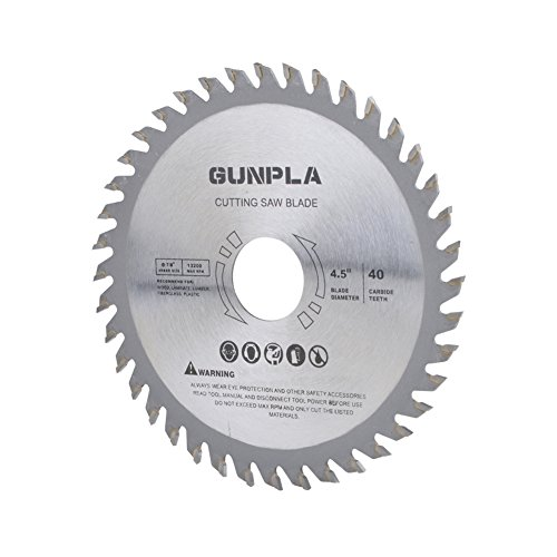 Gunpla 3 Pieces 4-1/2-inch 40 Tooth Alloy Steel TCT General Purpose Hard & Soft Wood Cutting Saw Blade with 7/8-inch Arbor by Gunpla (Image #2)