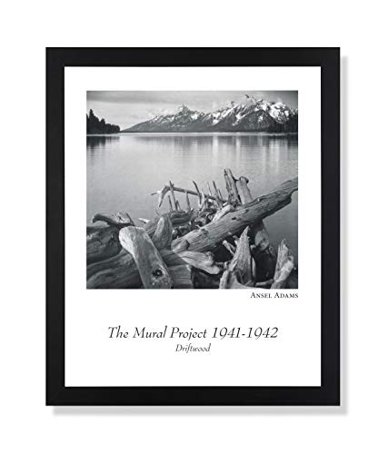 Solid Wood Black Framed Ansel Adams B/W Photo Driftwood Pictures Art Print