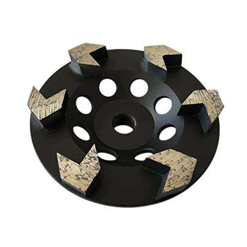 "Grinding Wheel for Paint, Epoxy, Mastic, Coating Removal (Arrow Seg - 4.5"" Diameter)"