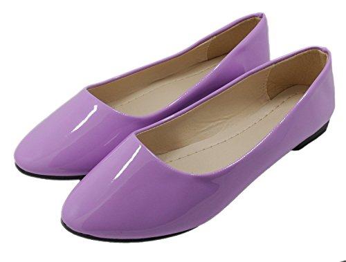 Häät Naisten Yksinkertaisesta Violetti Hooh Työstä Candy Loafers Väri Asunnot 1YwdqxOd