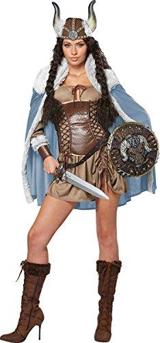 California Costumes Women's Viking Vixen Sexy Warrior Costume, Brown, Medium