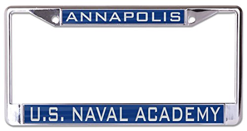 United License Plate - WinCraft United States Naval Academy Premium License Plate Frame, metal with inlaid acrylic