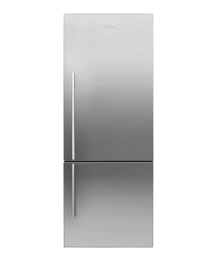 "Fisher Paykel RF135BDRX4 25"" 13.4 cu. ft. Right Hinge Counter Depth Bottom Freezer Refrigerator With Glass Shelves ActiveSmart Technology LED Lighting and Humidity Control System in Stainless"
