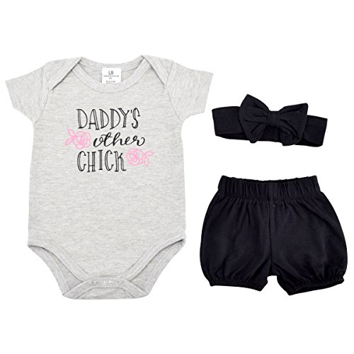 Unique Baby Girls Dads Other Chick 1st Father's Day Layette Set (Newborn) (New Chick)