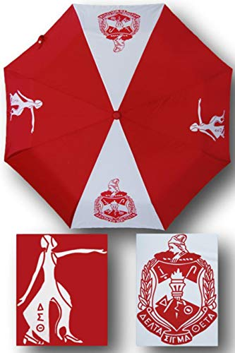 Delta Sigma Theta Auto Open Folding Umbrella by Greekanda