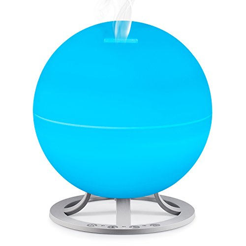 Brightness 1000 Envelopes (Leofan Big Capacity Aromatherapy Essential Oil Diffuser Ultrasonic Cool Mist Humidifier with Touch Button 12 Color LED Lights Changing and Waterless Auto Shut-off (600Ml))