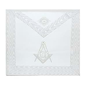 Masonic Exchange Simple White Master Mason Apron