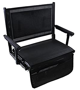 World Outdoor Products ZERO GRAVITY Extra Wide PEARL BLACK Portable Folding Stadium Bench Seat from World Outdoor Products, Inc.