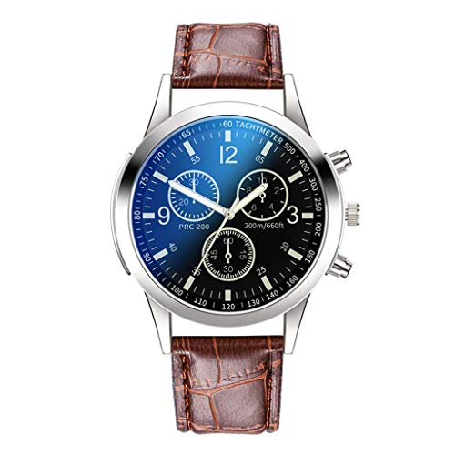 (Mens Watches WoCoo Classic Casual Dress Waterproof Chronograph Date Wristwatch Leather Strap Analog Quartz Watch,for Boy(D))