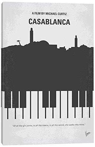 iCanvasART Casablanca Minimal Movie Poster Canvas Print, 40'' x 0.75'' x 26''