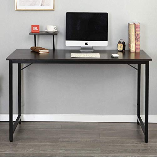 Computer Desk,Modern Foldable Corner Writing Table Study Laptop PC Desk Book Stand Tray Home Office Furniture Study Workstation for Small Spaces and Students Laptop Black